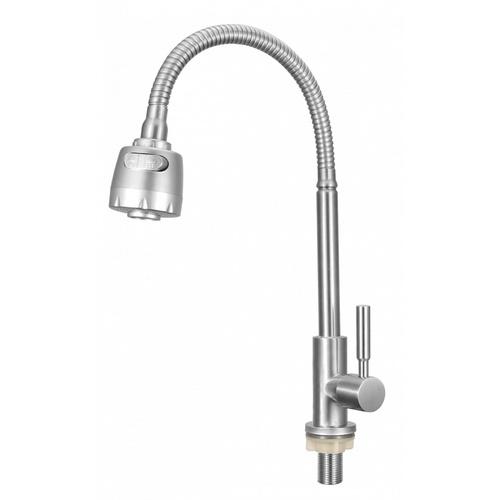 VERNO  ก๊อกอ่างล้างจานสเตนเลสปรับระดับน้ำได้ จีน่า VN-8107-SR ขาว
