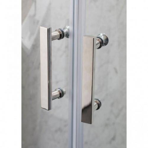 Heritage ฉากกั้นอาบน้ำแบบบานเลื่อนเข้ามุมฉาก ขนาด900x900x1850  PQS-PFL01 สีขาว