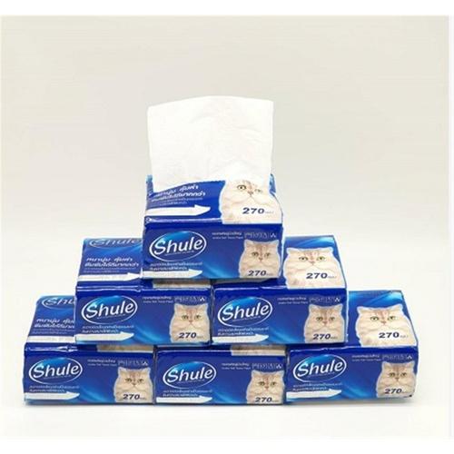 - Shule กระดาษเช็ดปาก 270แผ่น  (12ห่อ/แพ็ค)  PP-012