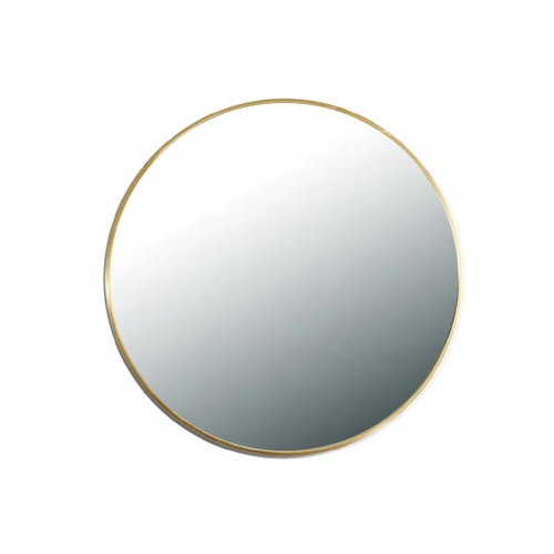 NICE กระจกมีกรอบทรงกลม (ST) ขนาด 60x60cm  วีคเกน PQS-XS6060-G  สีทอง