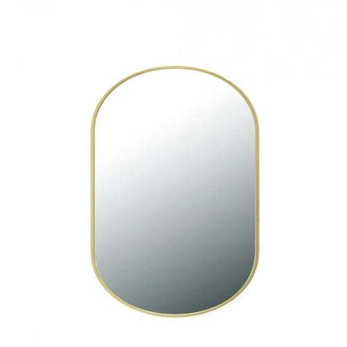 NICE  กระจกมีกรอบทรงรี (ST)  ขนาด 60x80cm  บิลลี่ PQS-XS8060-G สีทอง
