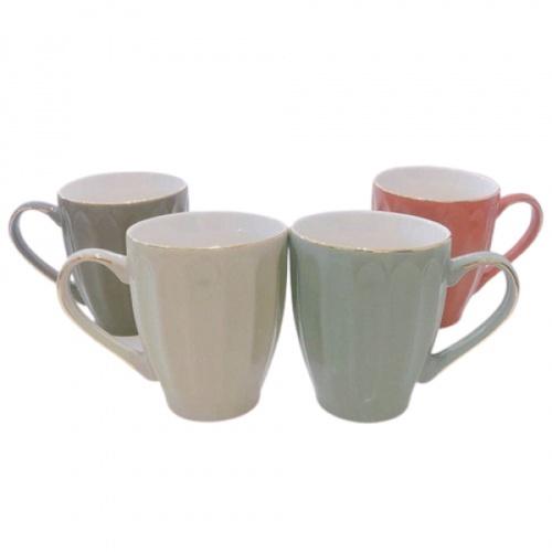AILO แก้วเซรามิค 10cm.  PUNCH คละสี สีขาว
