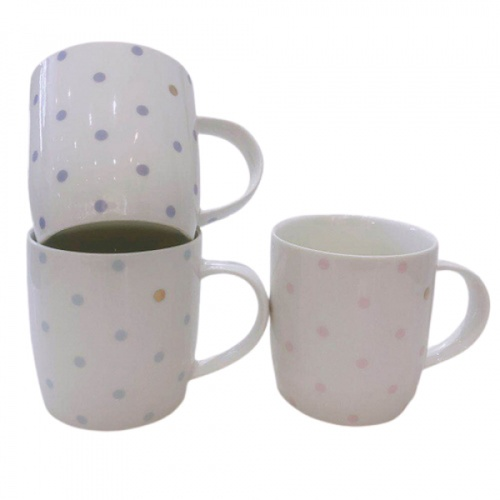 AILO  แก้วเซรามิค 9cm.  MUK-MIK คละลาย สีขาว