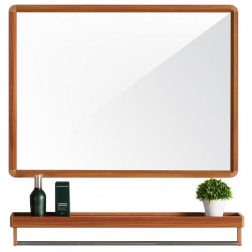 NICE Nice ชุดกระจกอะลูมิเนียม 60X40 ซม. รุ่น อาบิเกล GBH-LZ72104  ลายไม้ อาบิเกล GBH-LZ72104