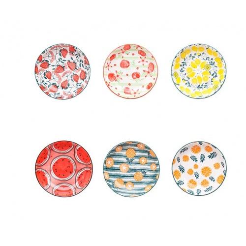 ADAMAS จานเซรามิคทรงกลม คละสี คละลาย ขนาด 8 นิ้ว Blomsterträdgård สีขาว