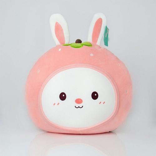 USUPSO หมอนตุ๊กตากลมสตรอเบอร์รี่หูกระต่าย  (#N9)