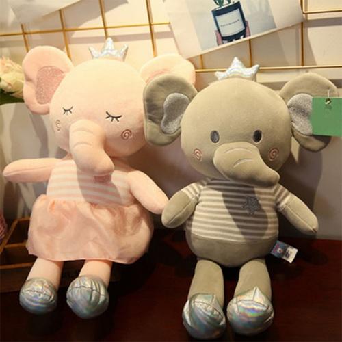 USUPSO ตุ๊กตาช้าง Hani 40 ซม. (#L9) สีชมพู
