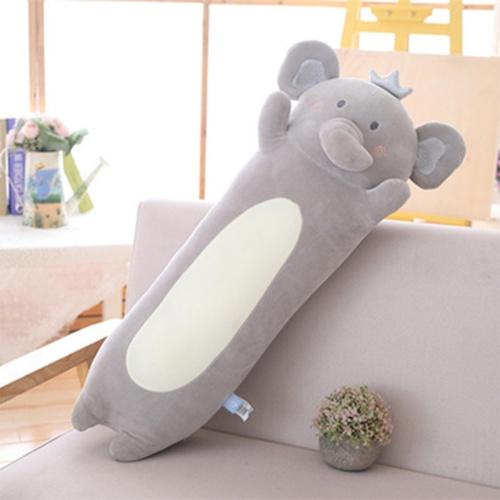 USUPSO หมอนตุ๊กตาช้าง Hani ทรงกระบอกยาว 65 ซม.  (#P9) สีเทา