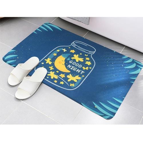 USUPSO พรมเช็ดเท้าแบบนุ่มลาย  Good night  คละสี