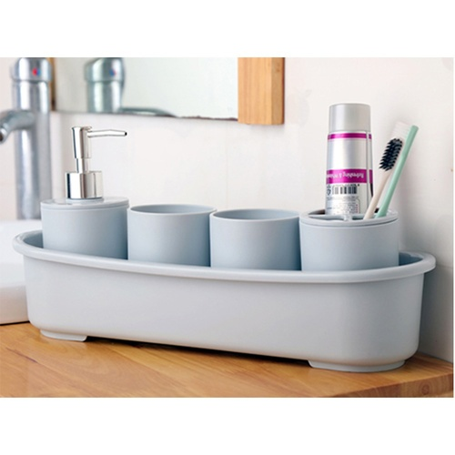 USUPSO ชุดสำหรับวางอุปกรณ์ในห้องน้ำ Nordic style + แก้ว   -