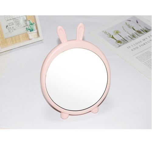 USUPSO กระจกเสริมสวยตั้งโต๊ะมีหูกระต่าย - สีชมพู