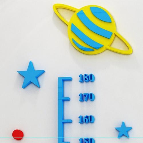 KOJI DIY สติกเกอร์ที่วัดส่วนสูงอคลีลิค 3D ขนาด 180 cm  951-3