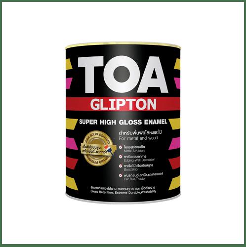 TOA ทีโอเอ กลิปตั้น สีเคลือบกึ่งเงา เบส 1/4 กล #000D -