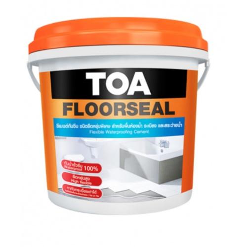TOA ซีเมนต์กันซึม ชนิดยืดหยุ่น ส่วนผสมเดียว 4 กก #FLOOR TOA FLOORSEAL สีขาว