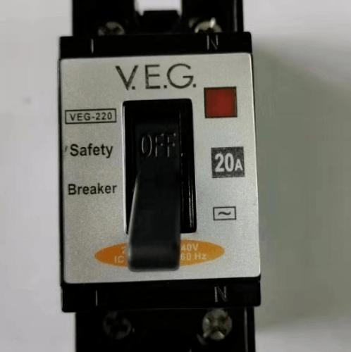 V.E.G เซฟตี้เบรกเกอร์ 20A  NT-50 2P  สีดำ