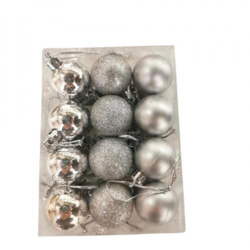 COZY ลูกบอลประดับต้นคริสต์มาส 12ชิ้น/แพ็ค  ขนาด 3x3x4ซม.  H3