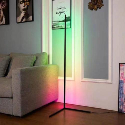 EILON โคมไฟตั้งพื้นโมเดิร์น RGB 20w พร้อมรีโมท สูง 1.45m  ALD-03 สีดำ