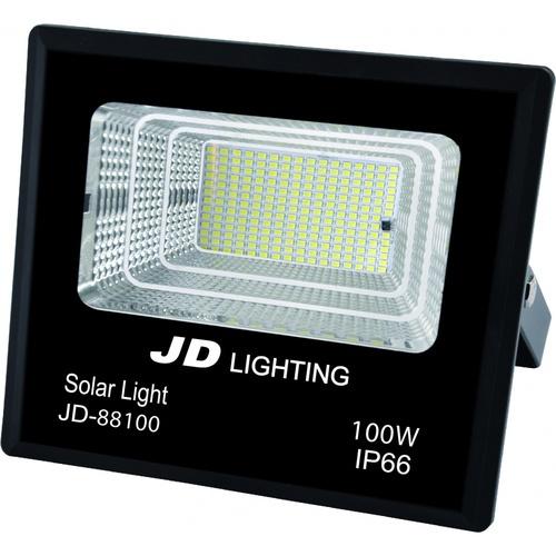 EILON ไฟสปอร์ตไลท์โซล่าร์เซลล์ 100W เดย์ไลท์   JD88100 สีดำ