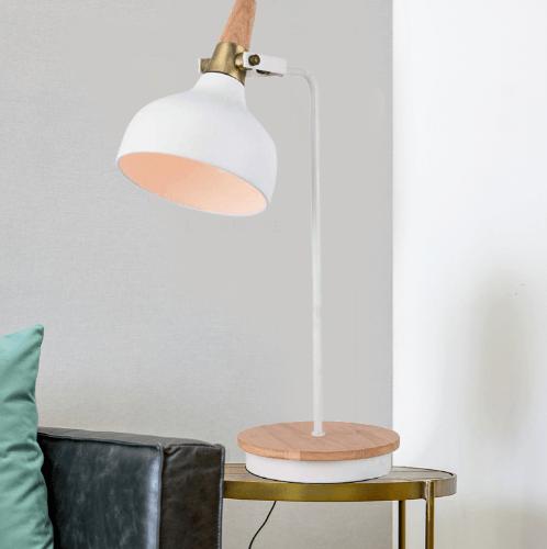 ELON โคมไฟตั้งโต๊ะ Modern  MT51723-1 สีขาว