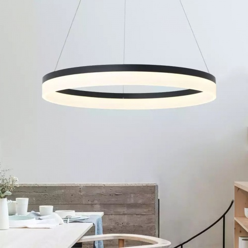 EILON โคมไฟแขวน โมเดิร์น 60W KDD7007 คูลไวท์ สีดำ