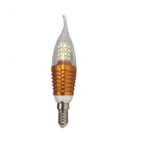 EILON หลอดไฟ LED 4W ปรับได้ 3 แสง ขั้ว E14 Gold ทรงเปลวเทียน สีขาว