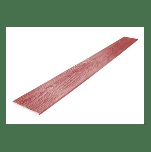 SHERA ไม้ฝาเฌอร่า ลายสัก 0.8x15x300 สีพะยูงแดงชายน์ไลท์ -