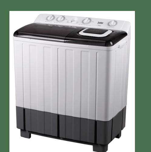BEKO เครื่องซักผ้า 2 ถัง 9.5 กก. WTT095W สีขาว-ดำ