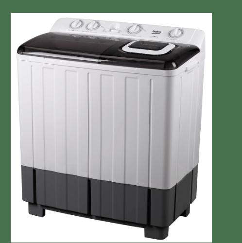 BEKO เครื่องซักผ้า 2 ถัง 13 กก. WTT130W สีขาว-ดำ