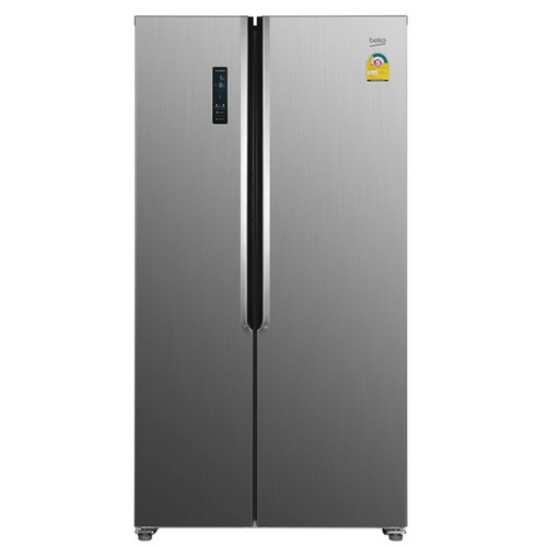 BEKO ตู้เย็น Side by Side ขนาด 15.4  คิว GNT427XP สีเงิน