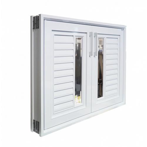 CLOSE บานซิงค์คู่ ABS  ขนาด 85.5x65.5 ซม.  ALISA สีขาวออร่า สีขาว