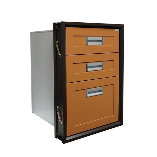 CLOSE ตู้ลิ้นชัก 3 ชั้น PVC ขนาด 45.5x65.5x50 ซม. CASTELLO สีสัก