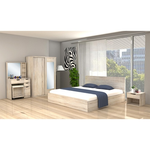 Delicato ชุดห้องนอน  6F Bogie  สีน้ำตาลอ่อน