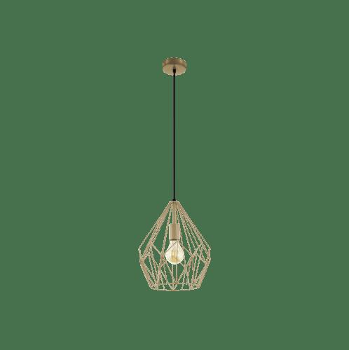 EGLO โคมไฟแขวนเพดาน E27 /1x 60W / ขนาด 325x400x320 CARLTON สีทอง