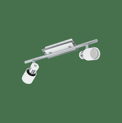 EGLO โคมไฟสปอร์ทแทรก  ติดเพดาน GU10-LED / 2x 5W /Size 145x395x0 DAVIDA สีขาว