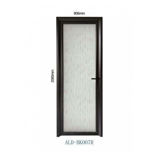 Wellingtan ชุดประตูอะลูมิเนียม ลายขีดน้ำตาล (เปิดขวา)  ขนาด 80.6x208ซม.  ALD-BK007R สีดำ