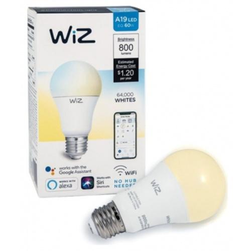 PHILIPS WiZ หลอดไฟแอลอีดี Wi-Fi TunableWhite 9W A60 927-65 12/1CT
