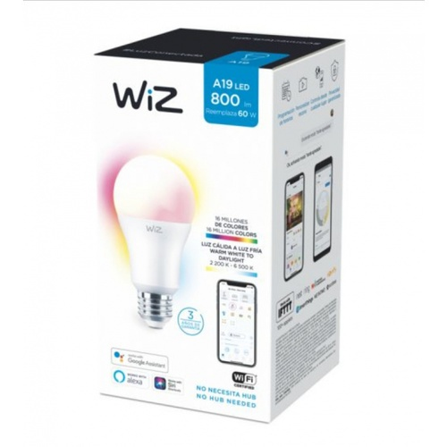 PHILIPS WiZ หลอดไฟแอลอีดี Wi-Fi Color+TunableWhite 9W A60 12/1CT