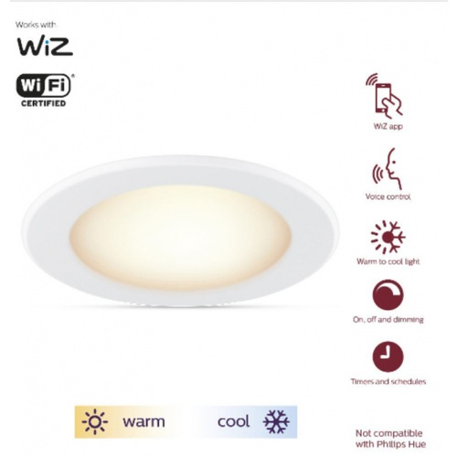 PHILIPS WiZ ดาวน์ไลท์แอลอีดี 5 นิ้ว Wi-Fi 13W RD D125/827-65