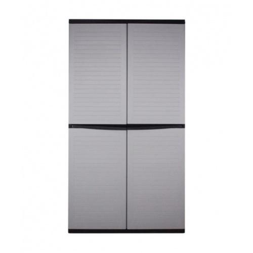 OPTIMUS ตู้เก็บไม้ม๊อบ ตู้อเนกประสงค์ ขนาด ก76 x ล46 x ส185 ซม.  SPC-12G สีเทา