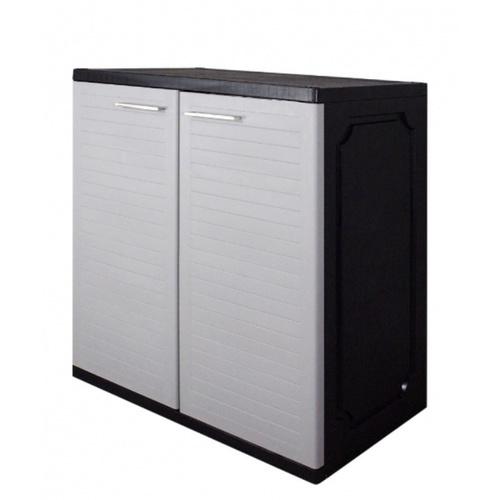OPTIMUS ตู้เก็บของ ประตูบานคู่2 ชั้น ขนาด: ก76 x ล46 x ส94 ซม SPS-23G  สีเทา