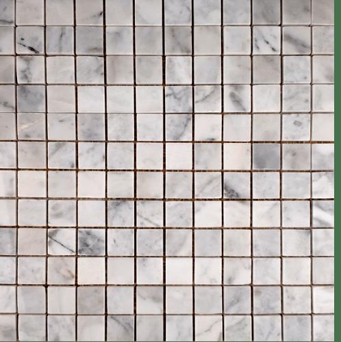 หินธรรมชาติ 30x30 โมเสคหินอ่อนขาวเทา ผิวขัดมัน  NSD-NMA-001