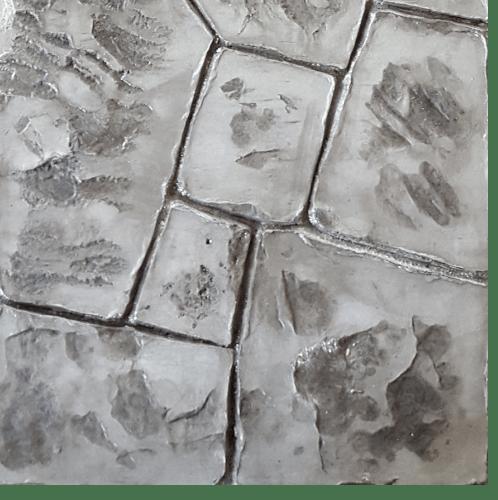 CONTEXTURE คอนกรีตพิมพ์ลาย  Stone 02 สีเทา-ดำ
