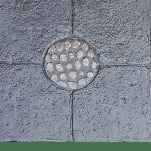 CONTEXTURE คอนกรีตพิมพ์ลาย  Stone circle 01  สีดำ