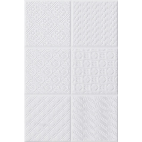 Marbella 8x12 กระเบื้องบุผนัง เจลลี่ไวท์ ZX2015 (25P) A. สีขาว