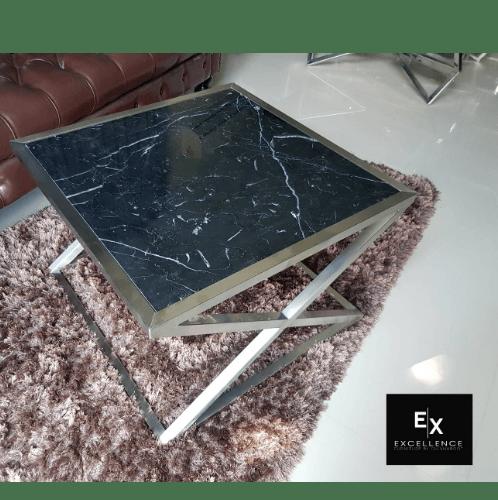 Excellence โต๊ะกลางรับแขกหินอ่อนดำ 20BM-606045  สีดำ