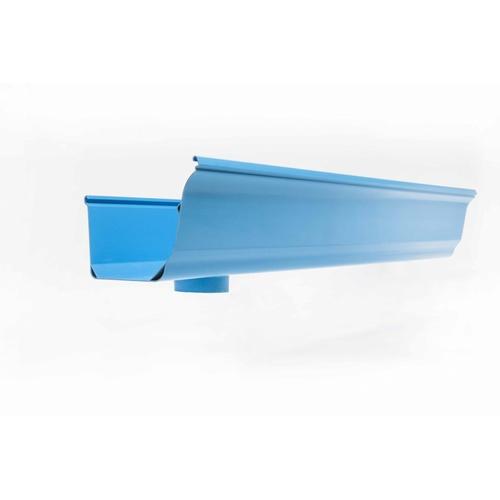 OK รางน้ำฝนพีวีซี แบบเจาะรูซ้าย OK Blue 4M. สีฟ้า