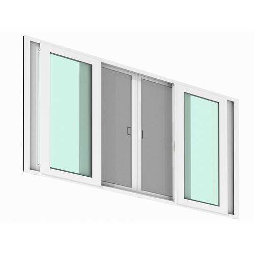 WINDSOR หน้าต่างบานเลื่อน 4 บาน วินด์เซอร์ ขนาด 240x110 ซม.  Ready สีขาว