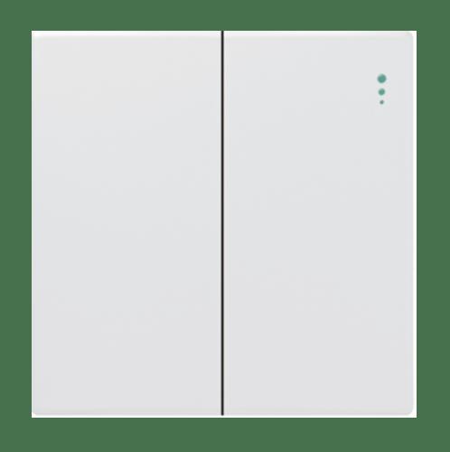Gentec สวิตซ์ 1 ทาง 2 ช่อง 86W-03 สีขาว ขาว