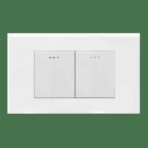 Gentec สวิตซ์ 1 ทาง 2 ช่อง 120W-05 สีขาว