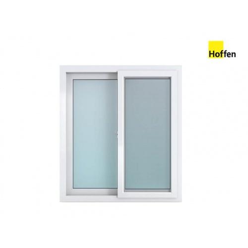 HOFFEN  หน้าต่างไวนิล บานเลื่อน SS ขนาด 100x110ซม.  พร้อมมุ้ง W6 สีขาว